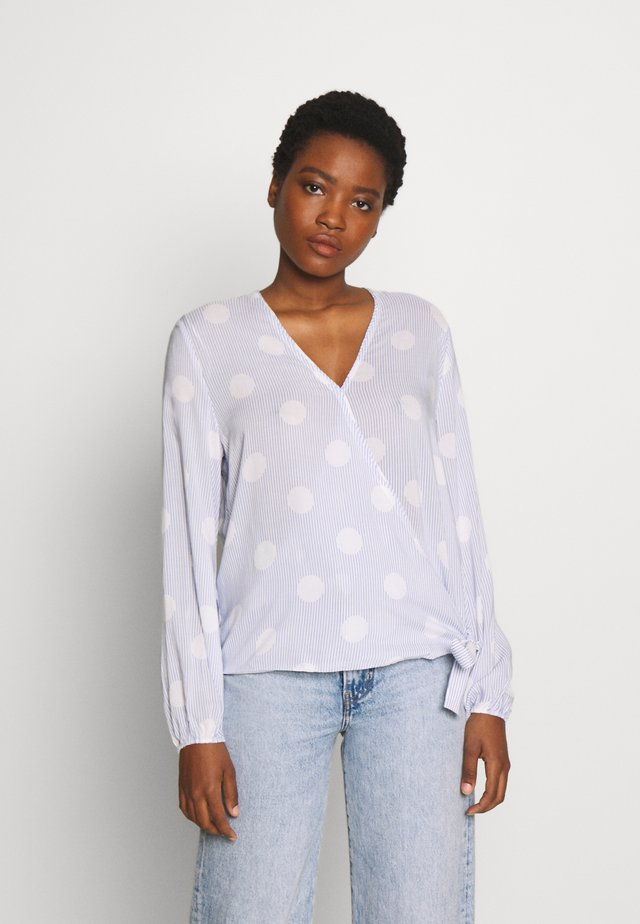 WRAP BLOUSE - Blouse - light blue
