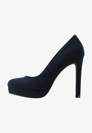 Højhælede pumps - dark blue