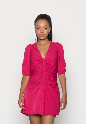TERESA DRESS RUCHED SLEEVE AND BODY DRESS - Day dress - berry