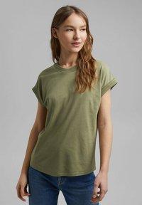 Esprit - Basic T-shirt - light khaki - 0