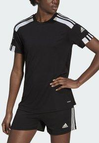 adidas Performance - SQUADRA 21 - Camiseta estampada - black/white - 3