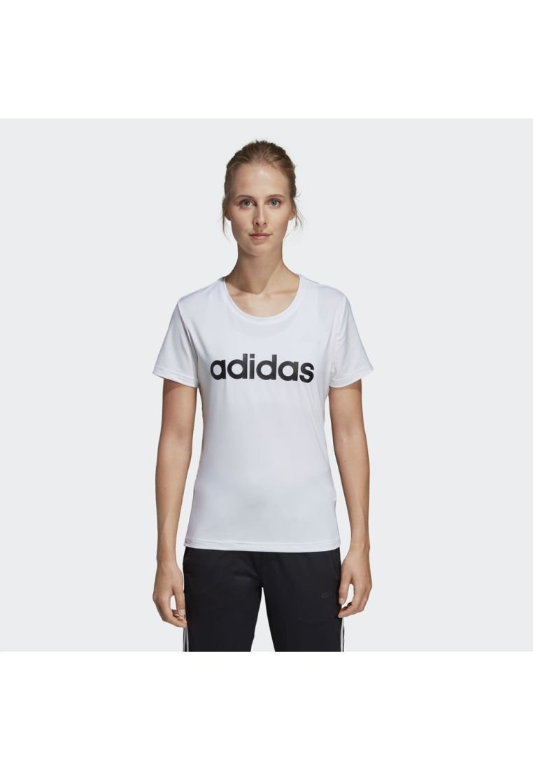 adidas Performance - DESIGN 2 MOVE LOGO TEE - Camiseta estampada - white/black