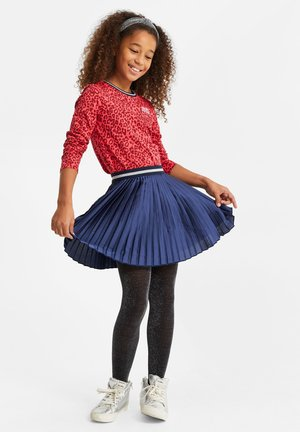 MET GLITTERDETAILS - A-line skirt - dark blue