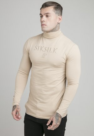 TURTLE NECK GYM TEE - Longsleeve - beige