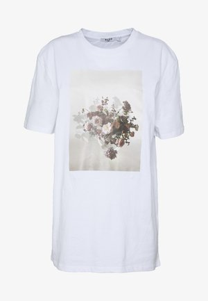 FLOWER - T-shirt z nadrukiem - white