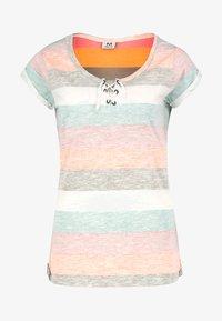 Sublevel - Print T-shirt - orange - 4