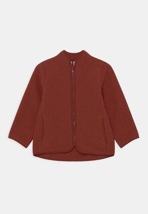 UNISEX - Fleece jacket - rust brown