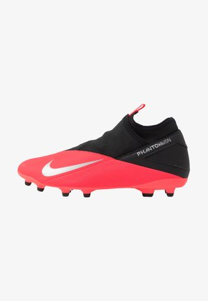 PHANTOM VISION 2 CLUB DF FG/MG - Moulded stud football boots - laser crimson/metallic silver/black