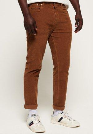 Slim fit jeans - dark tobacco