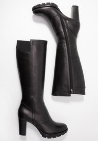 Anna Field Select - LEATHER PLATFORM BOOTS - Stivali con plateau - black - 3