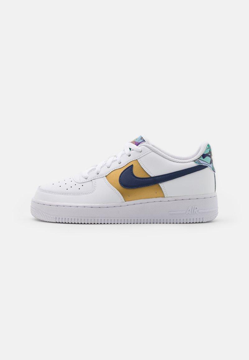Nike Sportswear - AIR FORCE 1 LV8 UNISEX - Zapatillas - white/blue void/metallic gold