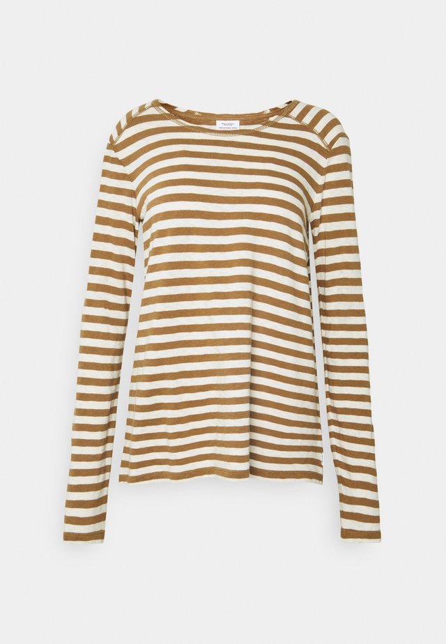 LONGSLEEVE ROUNDNECK - Long sleeved top - multi/cinnamon bun