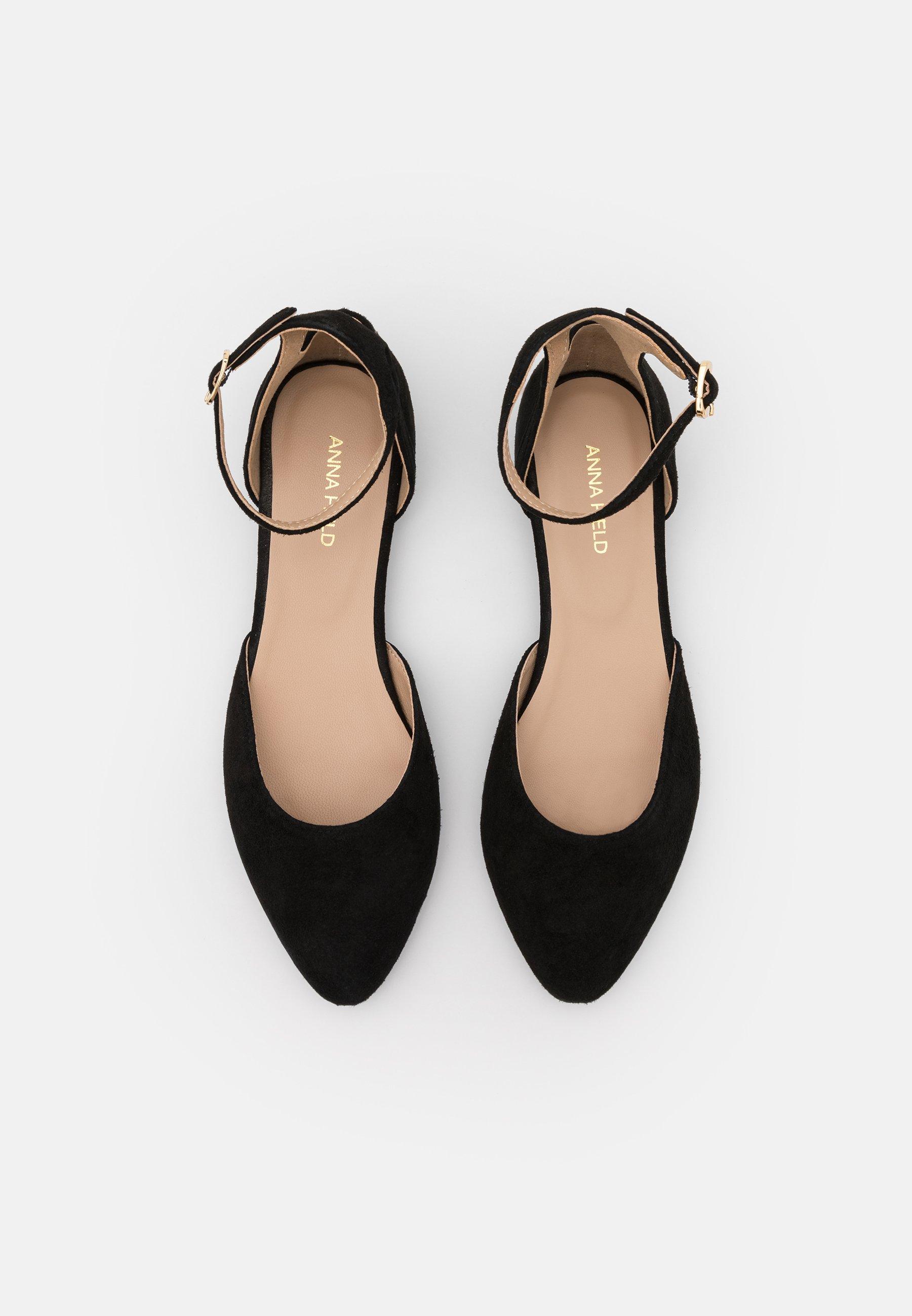 Women LEATHER - Ankle strap ballet pumps