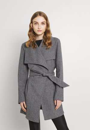 VIMOCCA BELT COAT - Classic coat - mottled dark grey