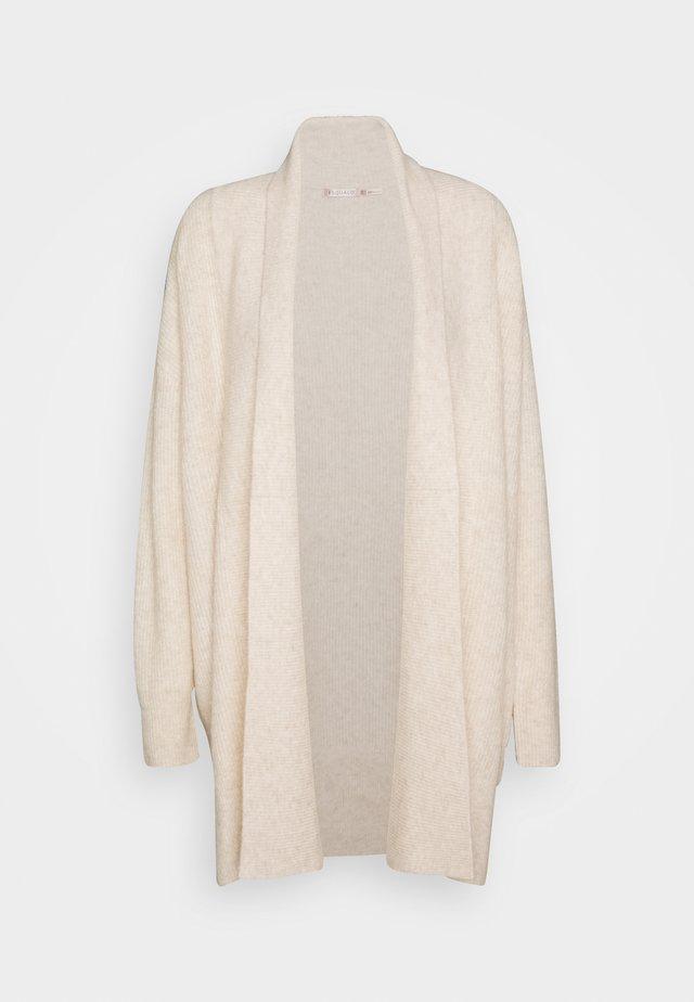 CARDIGAN WIDE - Vest - beige