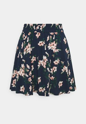 VMSIMPLY EASY SHORT SKATER SKIRT - Mini skirt - navy blazer/imma