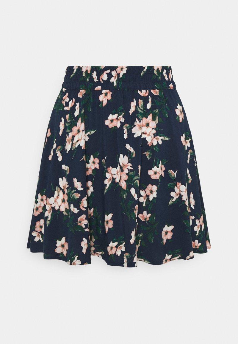 Vero Moda - VMSIMPLY EASY SHORT SKATER SKIRT - Mini skirt - navy blazer/imma