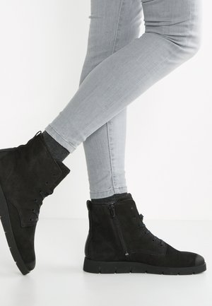 BELLA - Lace-up ankle boots - black
