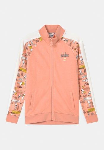 PUMA X PEANUTS UNISEX - Zip-up sweatshirt - apricot blush
