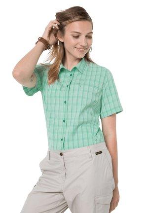 CENTAURA  - Button-down blouse - pacific green checks