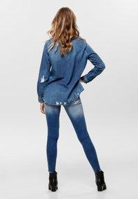 ONLY - Button-down blouse - dark blue denim - 2