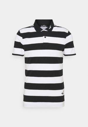 Polo shirt - black/white