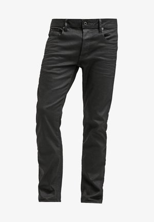 3301 STRAIGHT - Vaqueros rectos - black pintt stretch denim