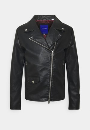 JORHIVE BIKER JACKET - Faux leather jacket - black