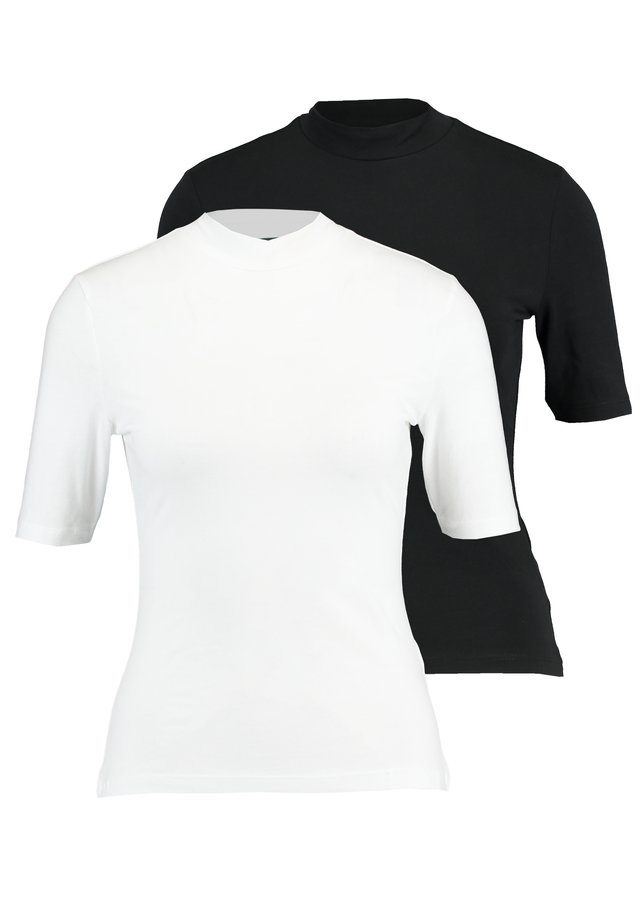 2 PACK - T-SHIRT BASIC - Jednoduché triko - white/black
