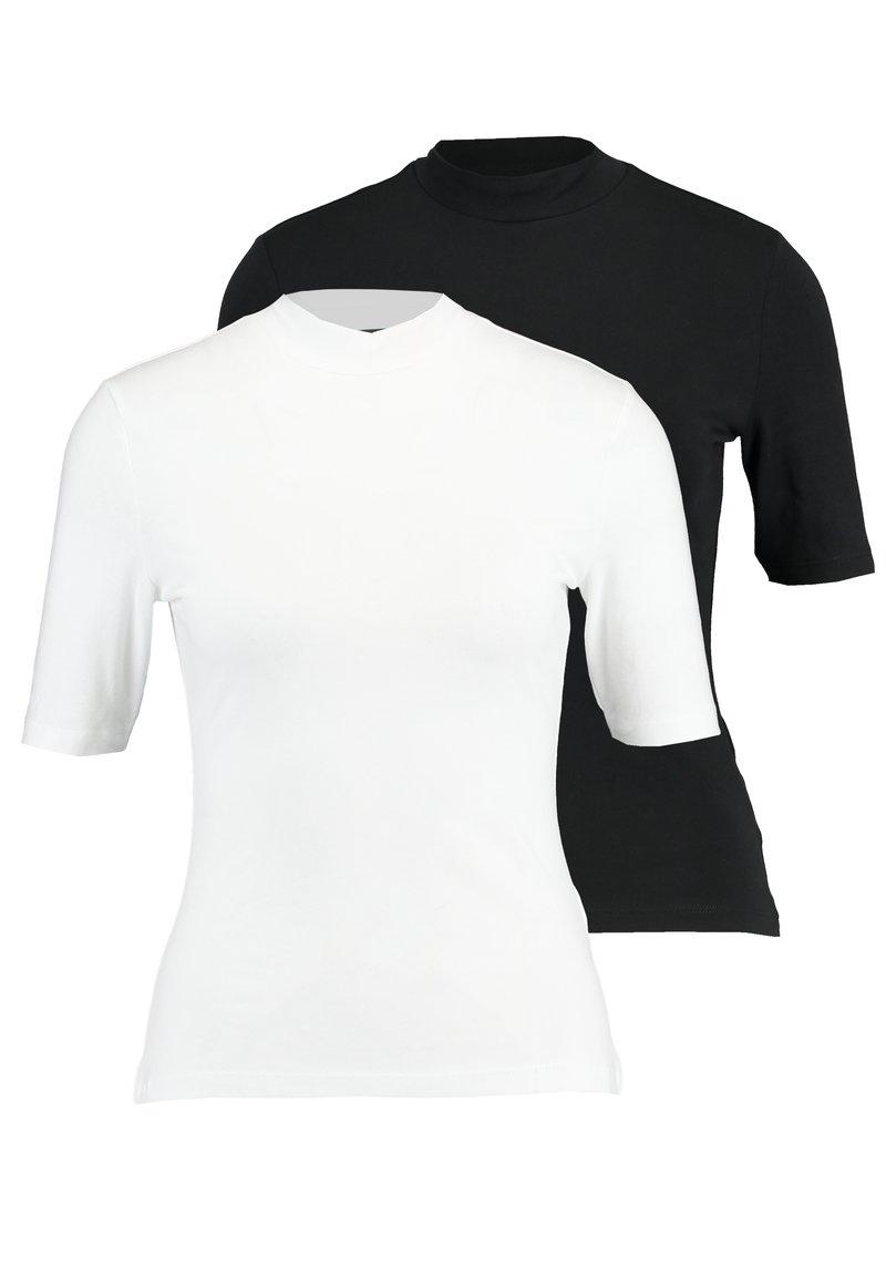 Even&Odd - 2 PACK - T-SHIRT BASIC - T-shirts - white/black