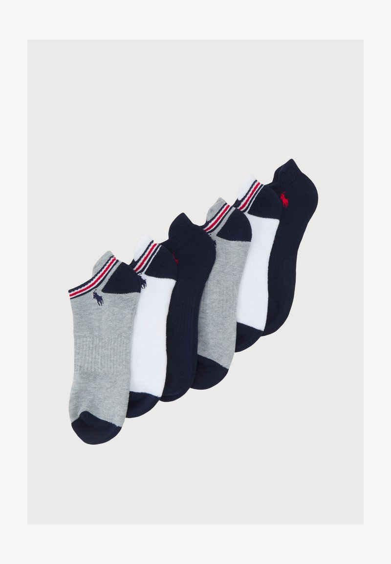 Polo Ralph Lauren - POLY BLEND LOW 6 PACK - Socks - white/navy/heather