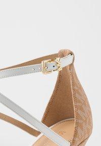 MICHAEL Michael Kors - ANTONIA - High heeled sandals - optic white/multicolor - 2