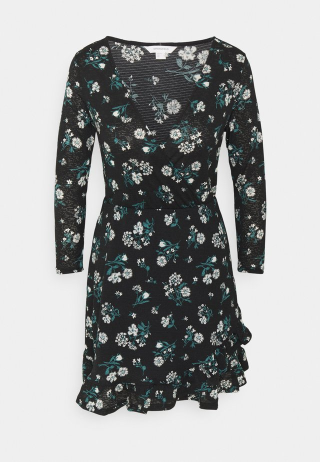 VESTIDO CORTO VOLANTE - Sukienka z dżerseju - black