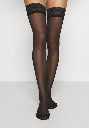 UP - Over-the-knee socks - black