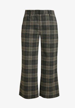 EVERYBODY WIDE LEG COZY WINDOWPANE - Pantalones - medium heather grey