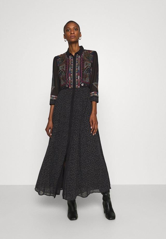 VEST WUHAN - Košilové šaty - black