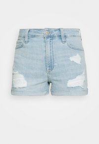 CURVY DEST - Shorts vaqueros - light-blue denim