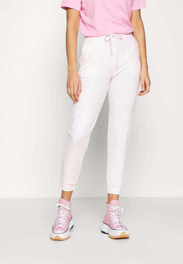 ANDREA HIGH WAIST JOGGERS - Teplákové kalhoty - primrose pink