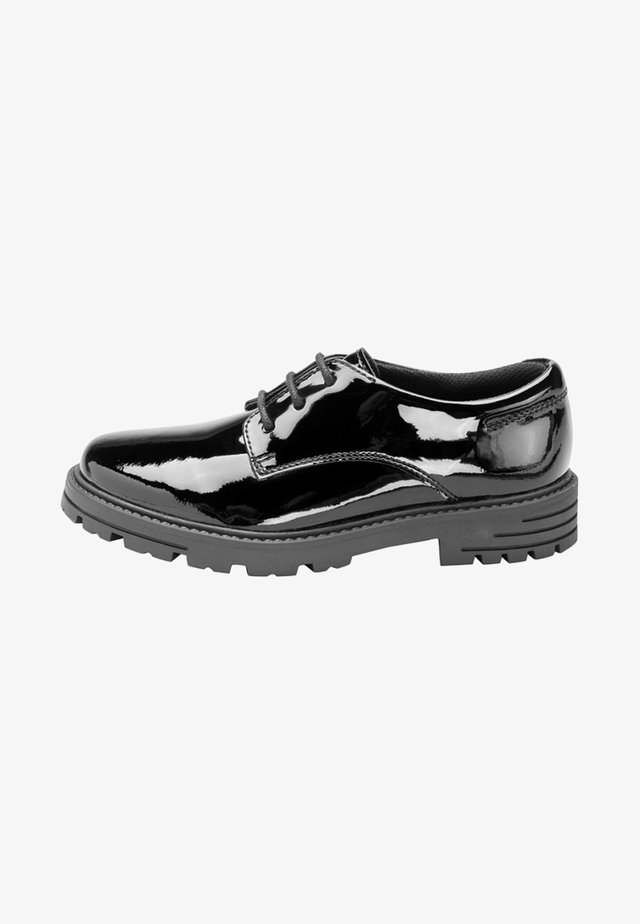Casual lace-ups - mottled black