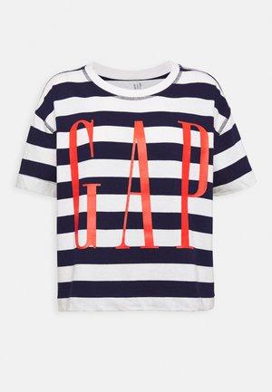 BOXY TEE - T-shirt z nadrukiem - navy