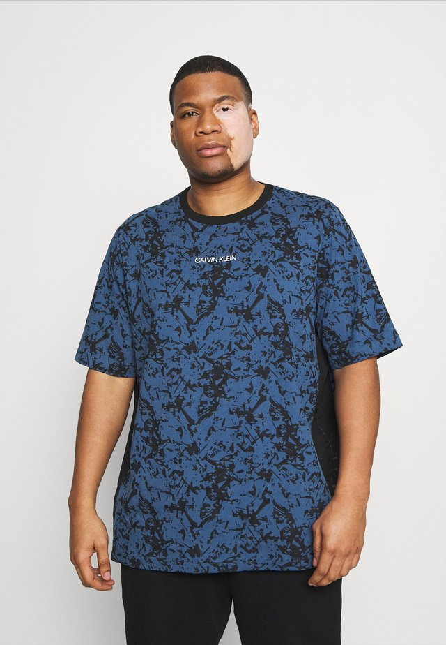ABSTRACT TEE - Print T-shirt - blue