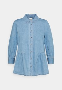 ONLY Petite - ONLMARY CANBERRA AUTHENTIC - Button-down blouse - medium blue denim - 0