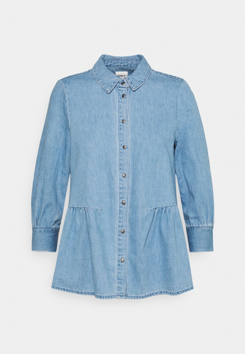 ONLY Petite - ONLMARY CANBERRA AUTHENTIC - Button-down blouse - medium blue denim