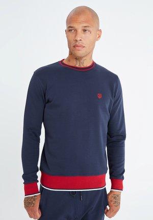 MIT UNIFARBENEM STOFF - Sweatshirt - dunkelblau