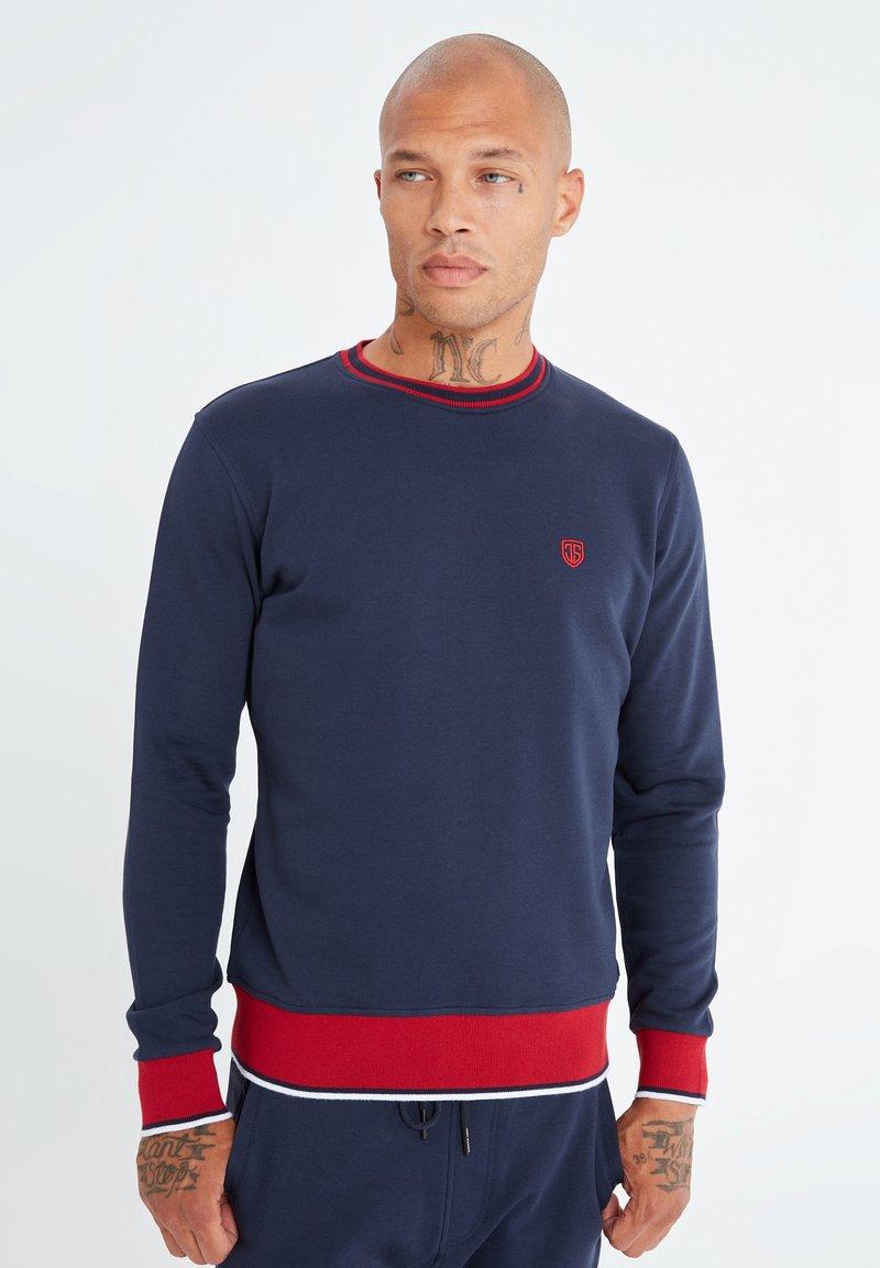 Jimmy Sanders - MIT UNIFARBENEM STOFF - Sweatshirt - dunkelblau