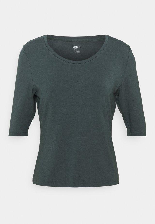 VIRA - Jednoduché triko - dark dusty khaki