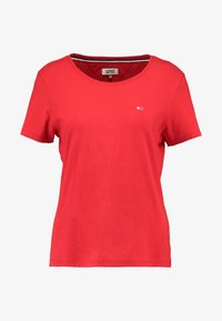 Tommy Jeans - SOFT TEE - T-shirt basic - flame scarlet - 4