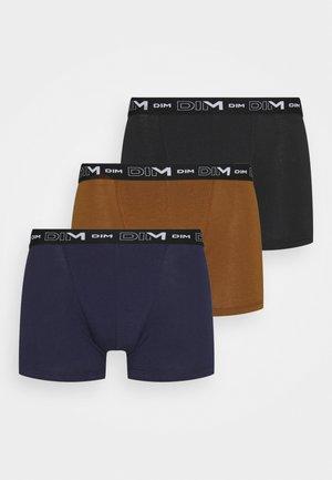 3 PACK - Onderbroeken - black/denim blue/brownie brown