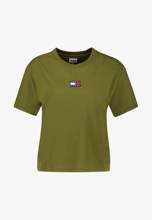 TOMMY CENTER BADGE TEE - Basic T-shirt - oliv