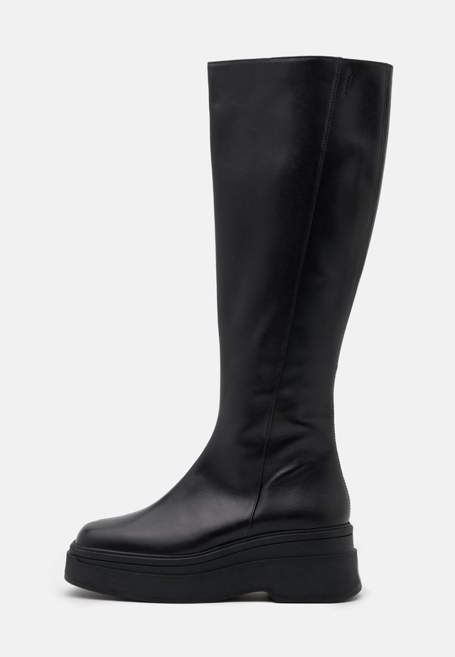 CARLA - Plateaustøvler - black